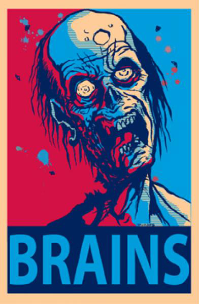 Brains Zombie Poster | Zombies