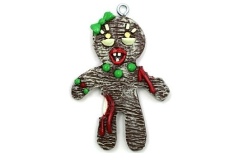 Gingerbread Zombie Mom Christmas Ornament
