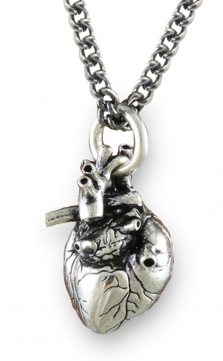 anatomically correct human heart necklace zombies
